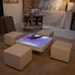LED Loungetisch - White - Mietmöbel von ELEMENTS EVENTDESIGN