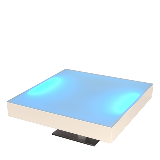 LED Loungetisch - White [ BLOC LIGHT ] - Mietmöbel von ELEMENTS EVENTDESIGN