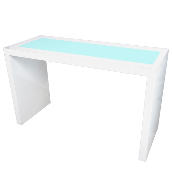 led br ckentisch white bow mietm bel von eventoutfitter. Black Bedroom Furniture Sets. Home Design Ideas