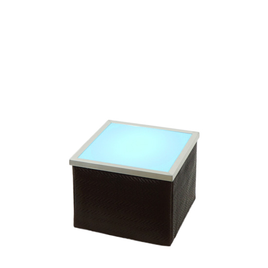 LED Loungetisch 50 - Choc [ CITY LIGHTS ] - Mietmöbel von ELEMENTS EVENTDESIGN