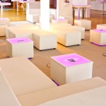 LED Loungetisch 50 - White - Mietmöbel von ELEMENTS EVENTDESIGN