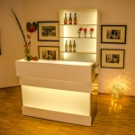 LED Theke - White & White - Mietmöbel von ELEMENTS EVENTDESIGN