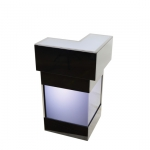 LED Thekenecke - Black & Black - Mietmöbel von ELEMENTS EVENTDESIGN