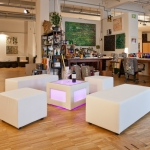 Loungebank - White - Mietmöbel von ELEMENTS EVENTDESIGN