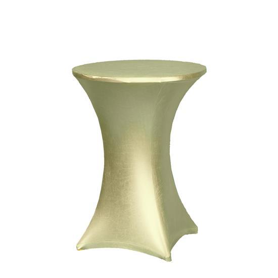 Stehtisch gold basic mietm bel von eventoutfitter for Stehtisch barhocker kombination