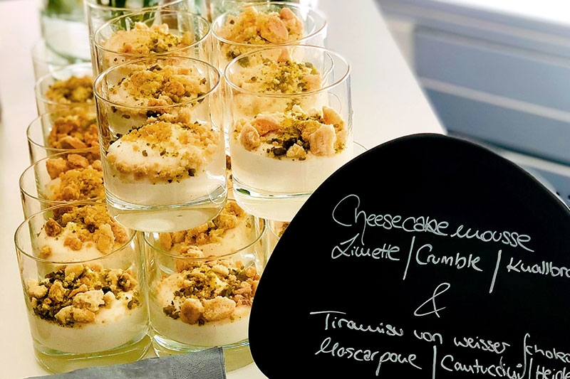 Cheesecakemousse mit limette