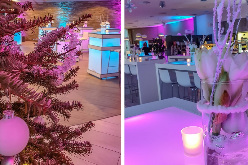 Eventdesign Dekoration   LED Mietmöbel