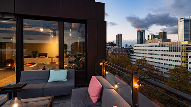 Eventlocation mieten Rooftop Frankfurt