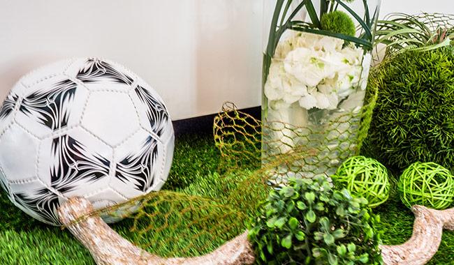 Fußball WM Dekoration zur Messe